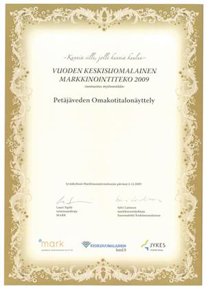 Kunniakirja - Keskisuomalainen markkinointiteko 2009 (kuva)